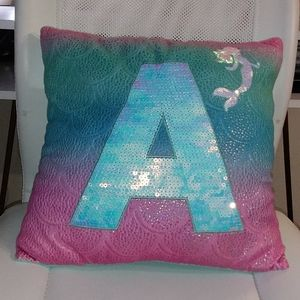 Letter Justice pillow